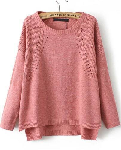 Red Long Sleeve Vintage Knit Loose Sweater