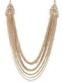 Gold Multilayers Chain Necklace