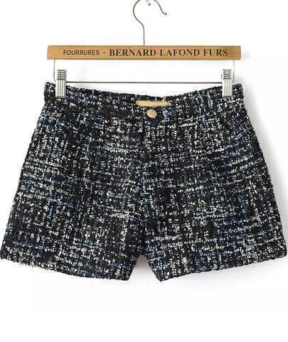 Shorts Tweed lentejuelas-negro