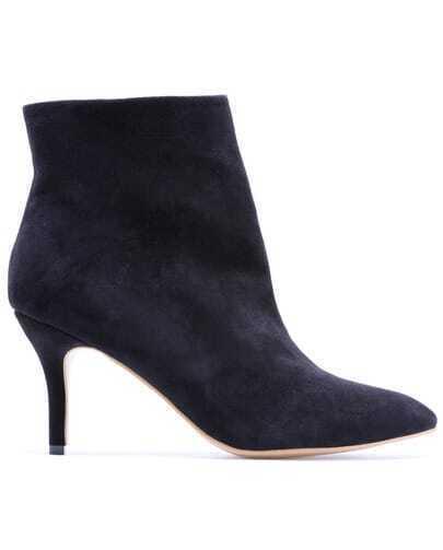 Navy High Heel Zipper Shoes