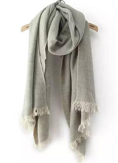 Grey Classic Tassel Scarves