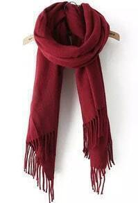 Red Classic Tassel Scarves