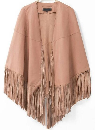 Pink Tassel Loose Cape