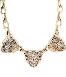 Gold Hollow Leopard Chain Necklace