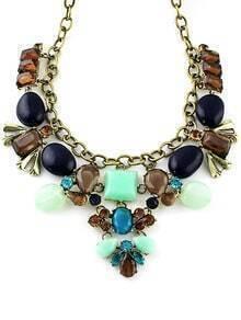 Brown Gemstone Vintage Chain Necklace