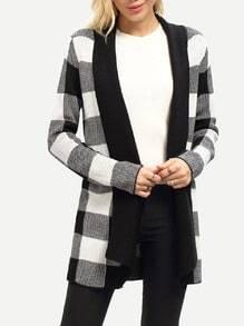 Jersey cuadros-blanco y negro