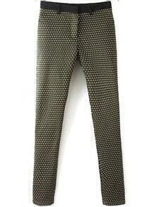 Black Slim Geometric Print Pant
