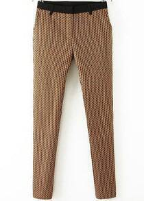 Yellow Slim Vintage Print Pant