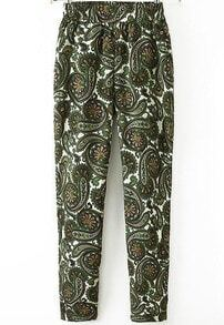 Grey Cashews Print Loose Pant