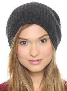 Grey Knit Dome Hat
