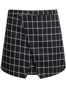 Black Plaid Bodycon Skirt