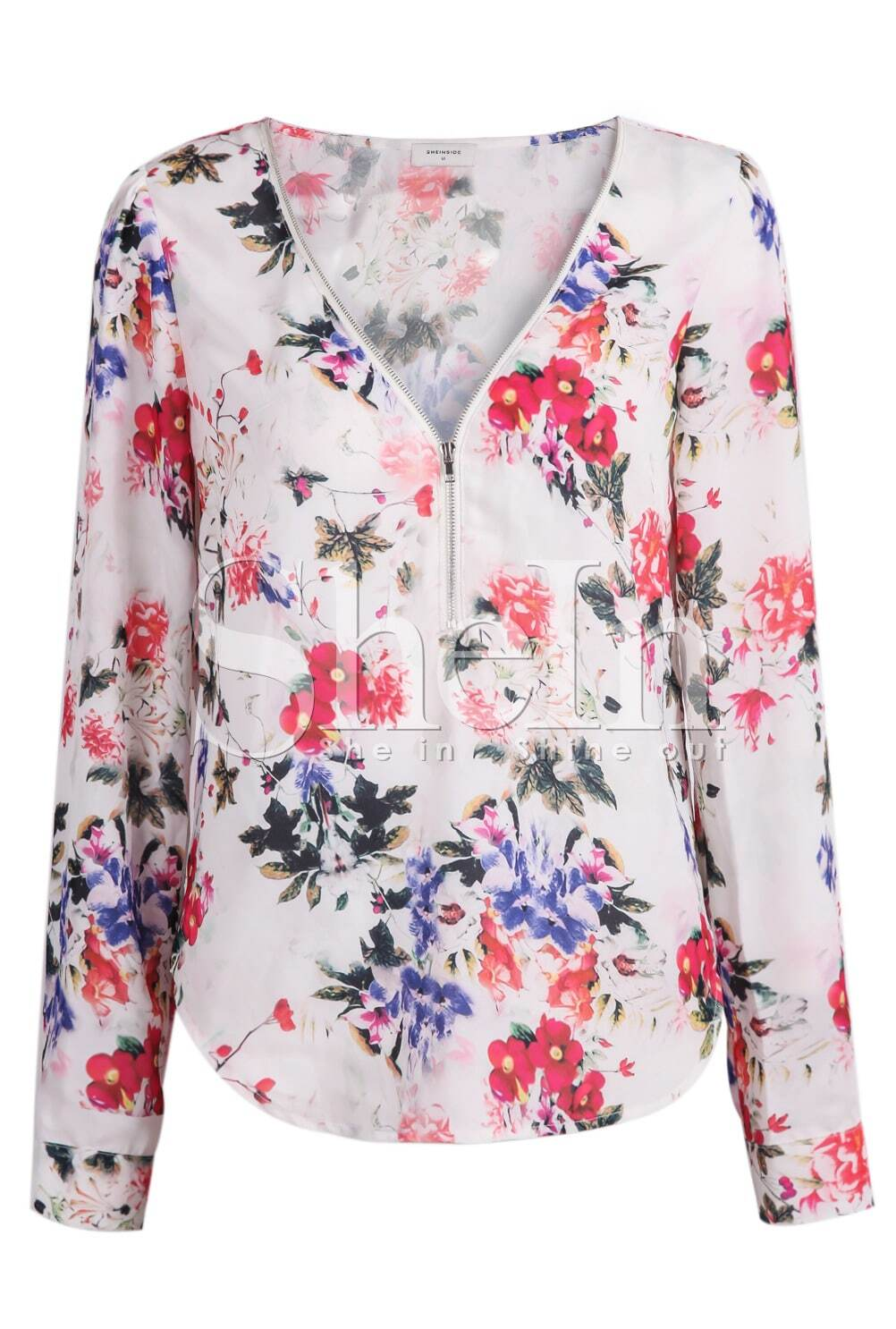 Buy WLLW Women Casual See Through Floral Print Long Sleeve Chiffon Shirt Blouse Tops and other Blouses & Button-Down Shirts at cheswick-stand.tk Our wide /5().