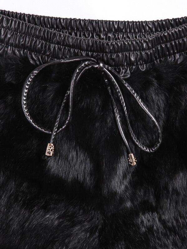 Black Fur Shorts