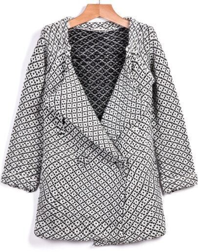 Grey Long Sleeve Loose Knit Sweater
