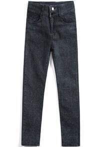 Navy Slim Pockets Denim Pant