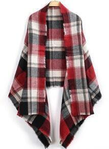 Red Black Plaid Classic Knit Scarve