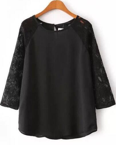 Блузка С Черным Кружевом