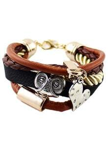 Multilayer Heart Horn Bracelet