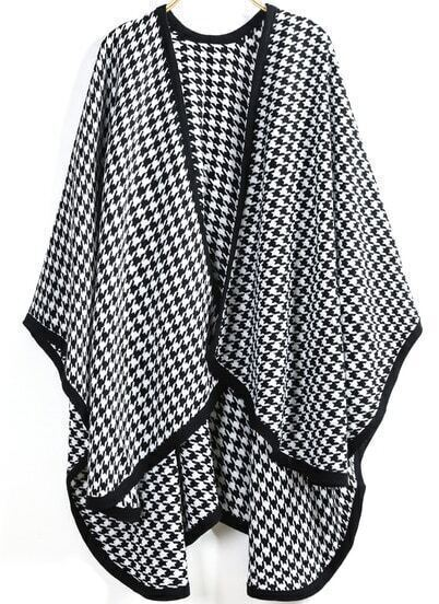 Black White Houndstooth Scarve