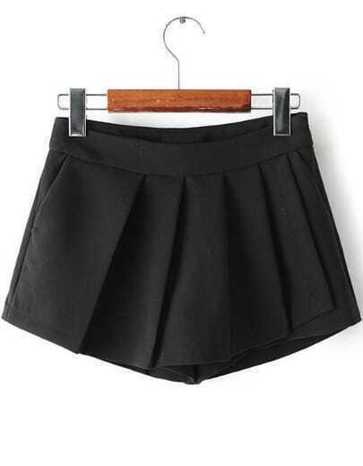 Black Ruched zip Shorts
