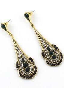 Green Gold Diamond Drop Earrings