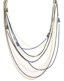 Multilayer Chain Bead Necklace