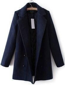 manteau en laine double boutonnages -marine