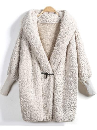 Manteau polaire décontracté chauve-souris manche longue