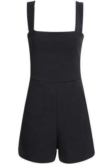 Black Sleeveless Spaghetti Strap Jumpsuit