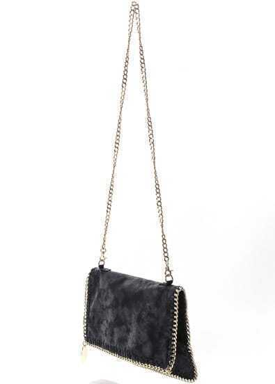 Black Sequined Shoulder Bag
