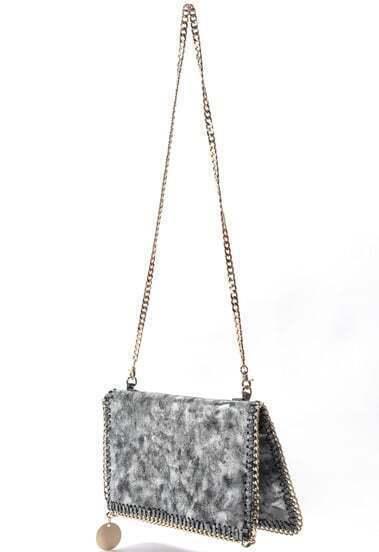 Silver Sequined Shoulder Bag