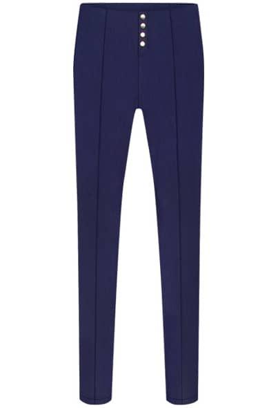 Blue Buttons High Waist Pencil Pant