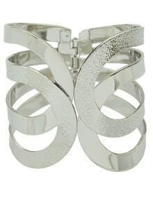 Silver Hollow Fashion Bracelet