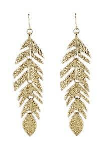 Fashionable Leaf Golden Earring