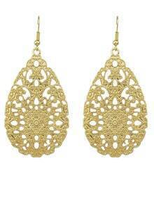Fashion Golden Hollow Out Earring
