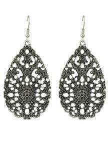 Fashion Black Hollow Out Earring