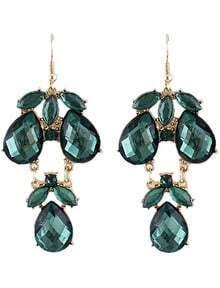 Green Gemstone Drop Dangle Earrings