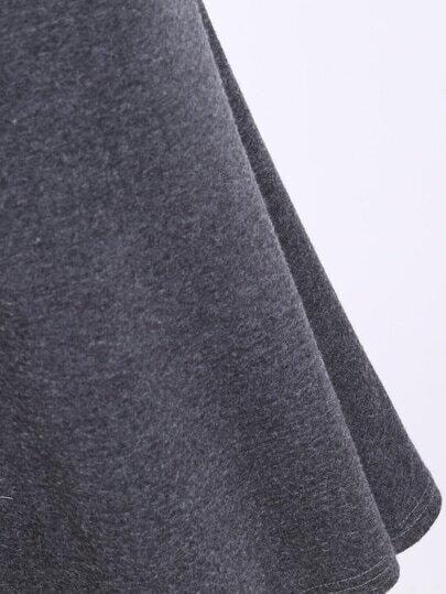 Langer Rock mit elastischer Taille