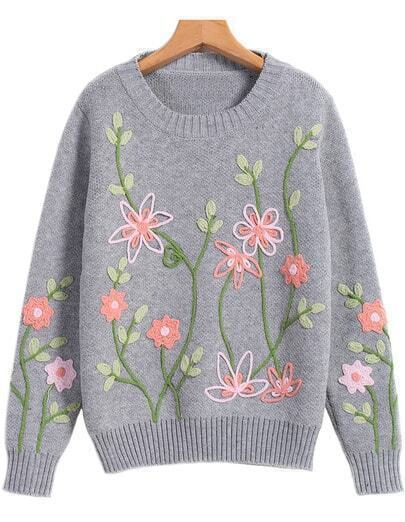 Вышивка на свитер 63