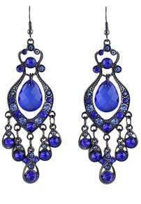 Grace Aulic Blue Crystal Drop Earring