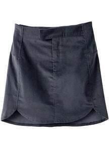 Black Slim Mini Bodycon Skirt