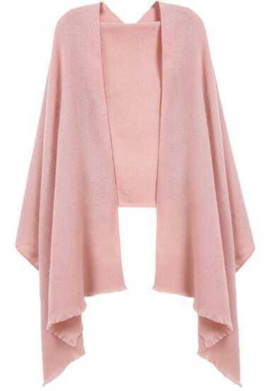 Pink Fringe Fashion Scarve