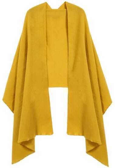 Yellow Fringe Fashion Scarve