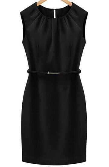 Black Sleeveless Slim Bodycon Dress