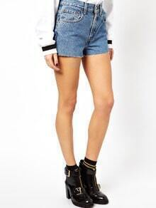 Blue Vintage High Waisted Denim Shorts