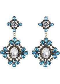 Green Drop Gemstone Gold Flower Earrings