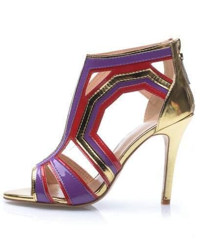 high heels mit offen schuhspitze lila german shein sheinside. Black Bedroom Furniture Sets. Home Design Ideas