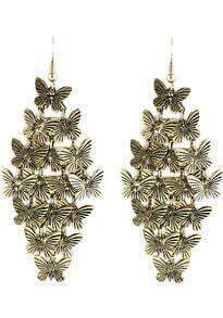 Retro Gold Elegant Butterfly Design Alloy Drop Earring