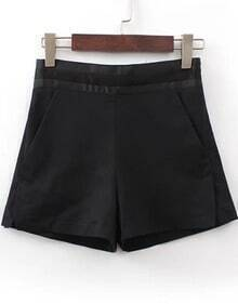 Black High Waist Pockets Shorts