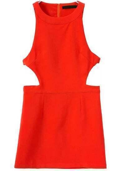 Orange Off the Shoulder Midriff Bodycon Dress